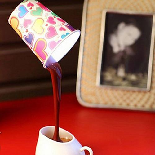 Сделай Сам абажур USB / батареи питания Led Кофе Night Light, 8 светодиодных ламп стол настольные для домашнего декора. Lightinthebox 1288.000