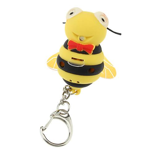 ABS Bee Shaped брелок со светодиодом и голоса Lightinthebox 107.000