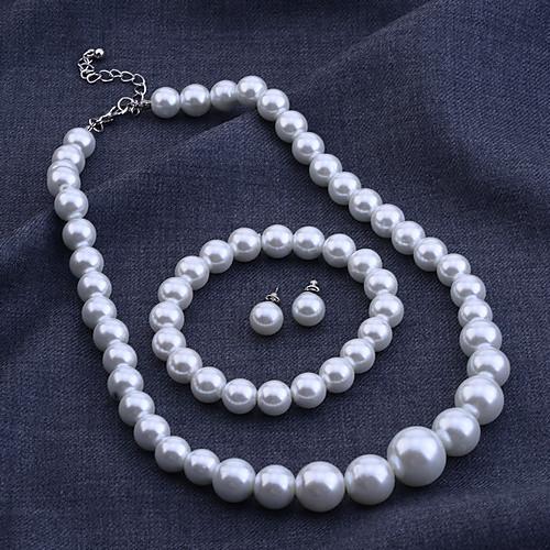 lureme высокое качество жемчужное ожерелье и браслет и серьги комплект ювелирных изделий Lightinthebox 257.000