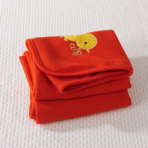 100% хлопок вафельный Вышитые Красной одеяло Lightinthebox 472.000