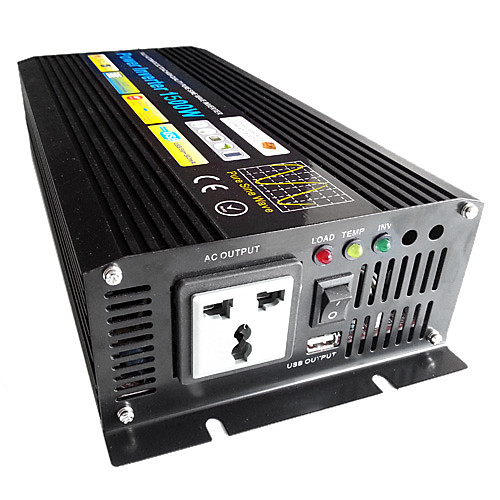 Инвертор 1500w DC12V к AC200-240V, чистая синусоида Lightinthebox 10054.000