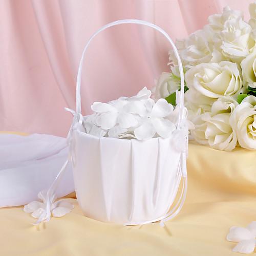 бабочка тематические цветок корзины в белый атлас и кружева Lightinthebox 427.000