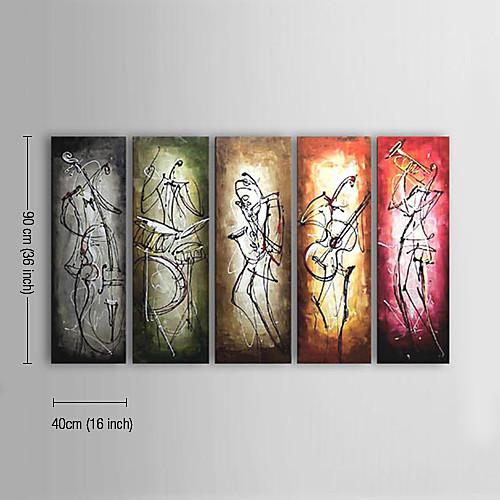Картина маслом, ручной работы, мотив абстрактный, вытянутая рамка, 5шт. Lightinthebox 6874.000