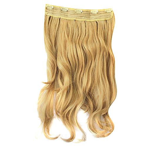 Sandy Блондинки Ролик в синтетического вьющихся наращивание волос с 5 клипов Lightinthebox 1271.000