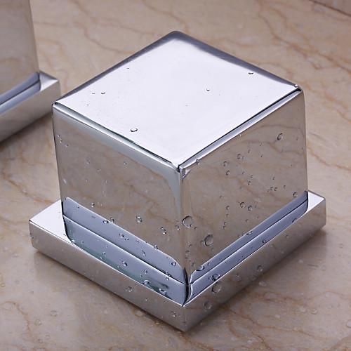 Современные светодиодные Водопад Настенный стекла Носик ванной кран с ручным душем