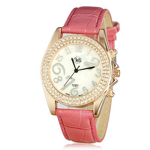 Привлекательный Цинк Женские Литые Дело кварцевый PU Группа аналоговые наручные часы (больше цветов) Lightinthebox 219.000