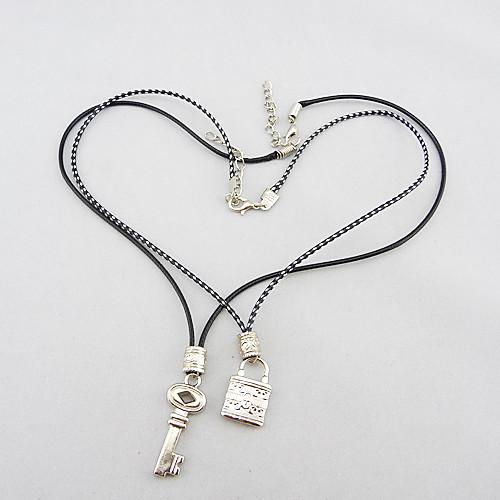 Ювелирные изделия и блокировки ключа титанового сплава Любителя набор, включающий два ожерелья Lightinthebox 128.000