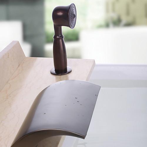 Античный Водопад Дизайн Настенный нефти потер бронзовый кран ванной Ванная комната с ручным душем Lightinthebox 7734.000