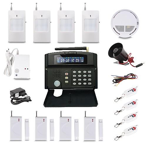 Беспроводная GSM система безопасности  автонабор экстренного номера  24 беспроводная зона Lightinthebox 6445.000