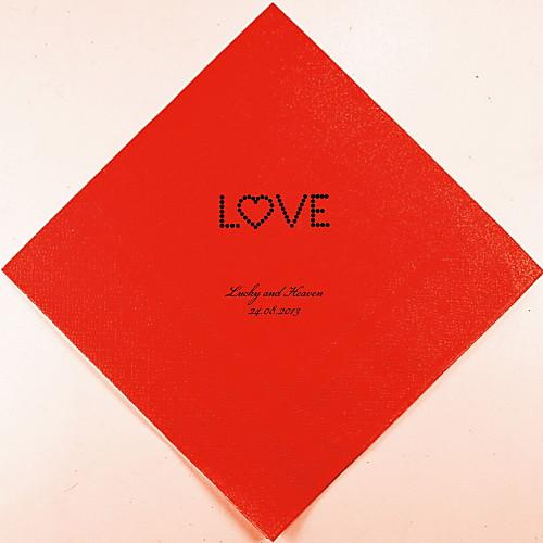 Персонализированные свадебные Салфетки Любовь (другие цвета)-набор из 100 Lightinthebox 880.000