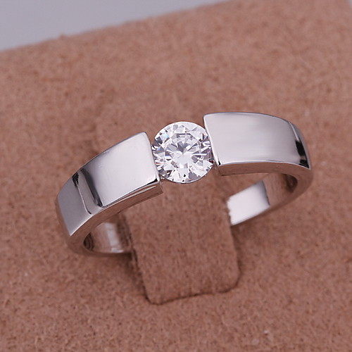 Мужская Ницца Серебряный Кристалл кольцо моды Lightinthebox 257.000