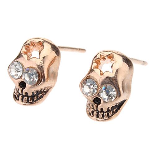 Розовое золото Серьги с бриллиантами череп глаз Стад Lightinthebox 85.000