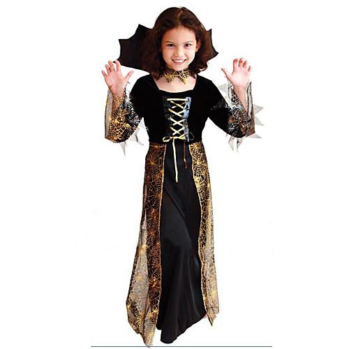 Паук Ведьма Девушка Дети Хеллоуин костюм (для высоты 115-135) Lightinthebox 1718.000