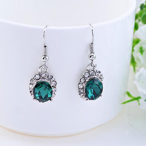 lureme ретро кристаллы изумрудно жемчужина серьги кольцо и ожерелье набор Lightinthebox 343.000