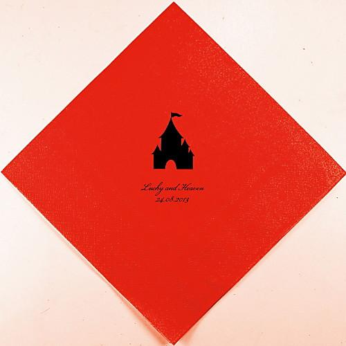 Персонализированные свадебные Салфетки замок (другие цвета)-набор из 100 Lightinthebox 880.000