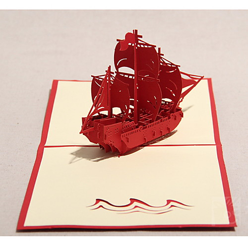 Трехмерная Парусник Поздравительная открытка (другие цвета) Lightinthebox 219.000