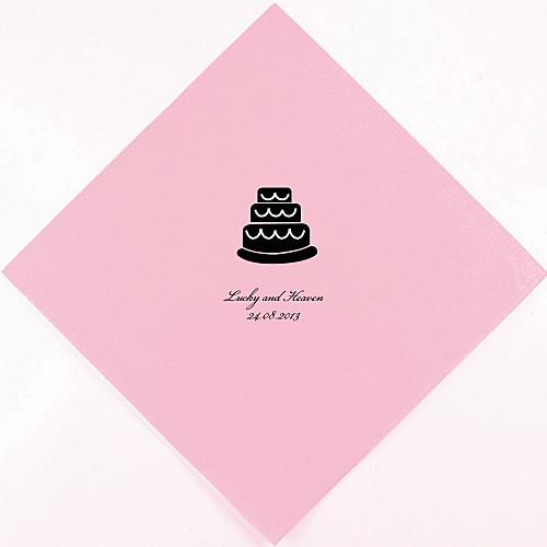 Персонализированные Свадебный торт Салфетки (другие цвета)-набор из 100 Lightinthebox 880.000