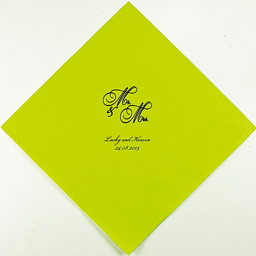Салфетки персонализированные свадьбы мистера и миссис (другие цвета)-набор из 100 Lightinthebox 880.000