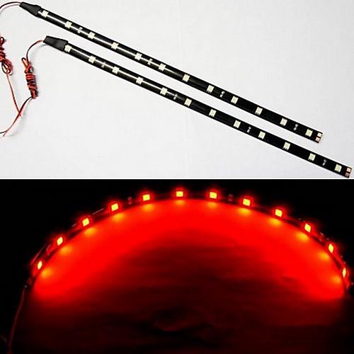 2x30cm LED автомобилей Гибкие водонепроницаемые светодиодные полосы красный Lightinthebox 214.000