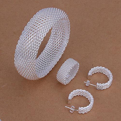 полый чистая набор серебряных украшений Lightinthebox