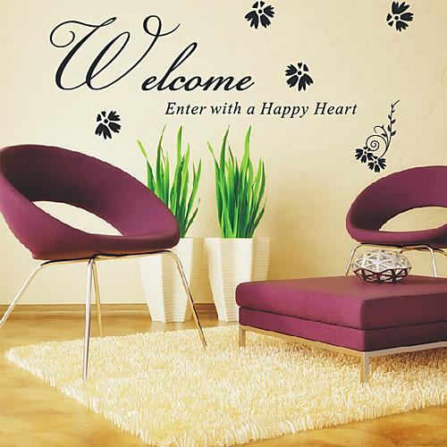 Добро пожаловать Войти через Счастливые наклейки Сердца Слова Стена Lightinthebox 1288.000