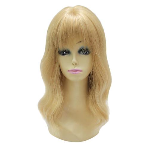 Монолитным 100% человеческих волос Золотой русый прямой длинный парик Lightinthebox 7777.000