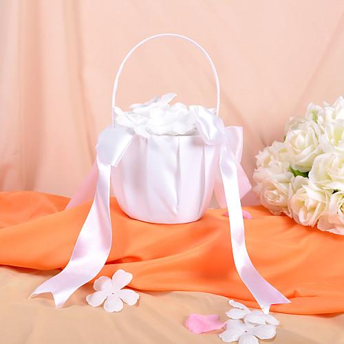 классическая корзина девушка цветок белого атласа с луками Lightinthebox 429.000