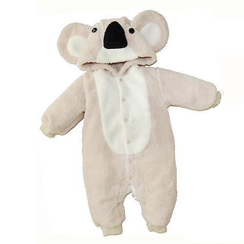 Фланель Koala Цельный Младенческая пижамы Детский костюм (0-3M) Lightinthebox 1073.000