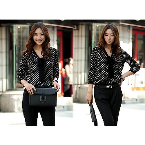 Шифоновая блуза в горошек с рукавом 3/4 Lightinthebox 558.000