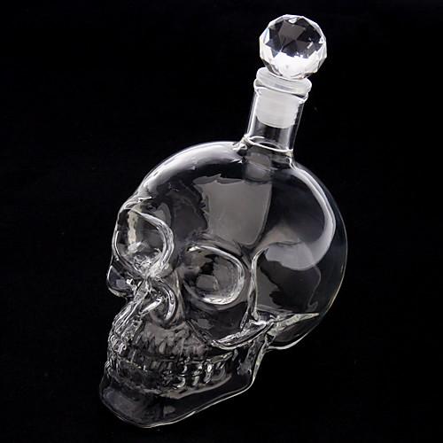 Хрустальные черепа форма головы Вино пили водку Стеклянная бутылка Графин новизна подарков Lightinthebox 493.000