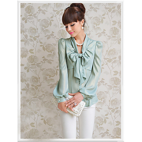 DABUWAWA Мода ПР лук футболка с длинным рукавом (синий) Lightinthebox 2290.000