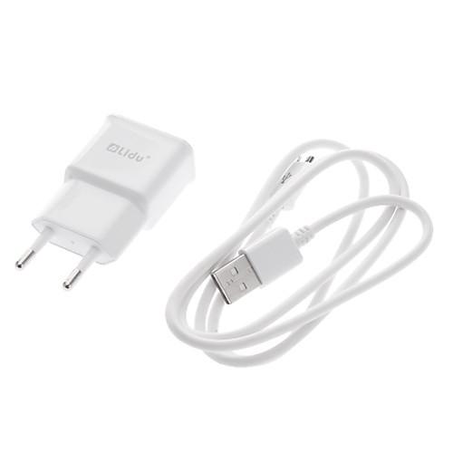 1 комплект белого ЕС USB зарядное устройство Power Plug  Micro USB дата кабель для синхронизации для Samsung Galaxy Примечание 2 N7100/S3/S4 Lightinthebox 343.000