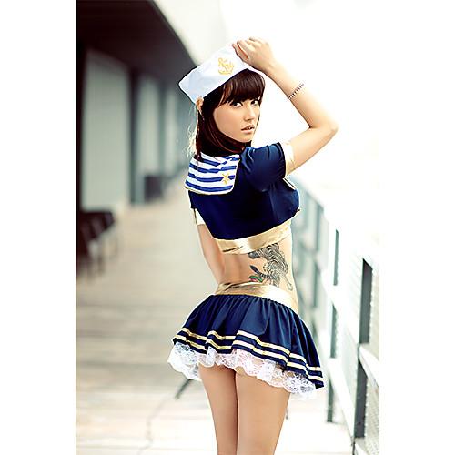 Hot Girl Темно-синий хлопок матроска Lightinthebox 1288.000