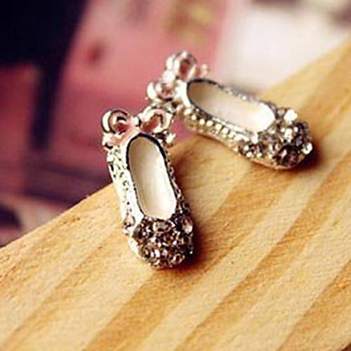 Горячие бутон творческие милые туфли лук туфельки Круглый Стад Серьги с бриллиантами модели E105 Lightinthebox 64.000