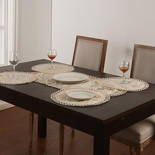 Набор из 5 белых полых Runner Таблица Design & Placemat Lightinthebox 601.000