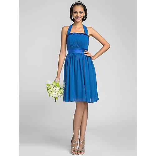 Онлайн Холтер длиной до колен шифона и стрейч атласа платье невесты (663645) Lightinthebox 2680.000