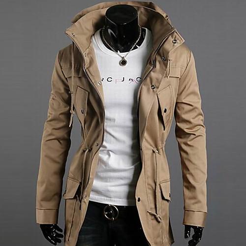 INMUR Мужская мода Хаки двойной высокой шеи повседневные куртки Fit Lightinthebox 1288.000