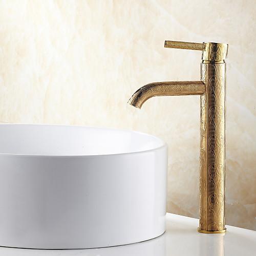 антикварный ти-PVD отделка Centerset одной ручкой ванной комнате раковина кран (в высоту) Lightinthebox 6445.000