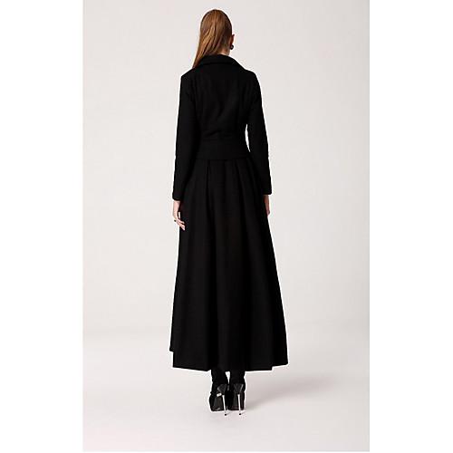 Длинное женское пальто в пол Lightinthebox 1954.000