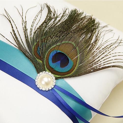 Синяя полоса с павлиньим пером Белый Set коллекция свадебных (4 шт) Lightinthebox 1866.000