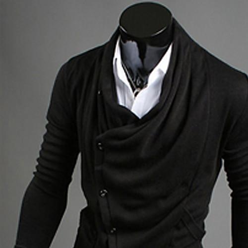 Черный 2013 REVERIE UOMO Мужская осень Новая модель корейского мода Slim Fit Толстовка Личность Lightinthebox 773.000