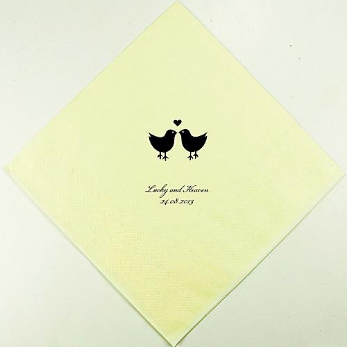 Персонализированные свадебные Салфетки Lovebirds (другие цвета)-набор из 100 Lightinthebox 880.000