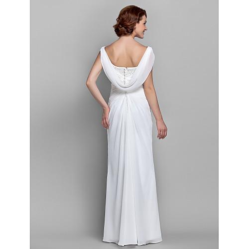 Платья-колонна, длина до пола, материал шифон Lightinthebox