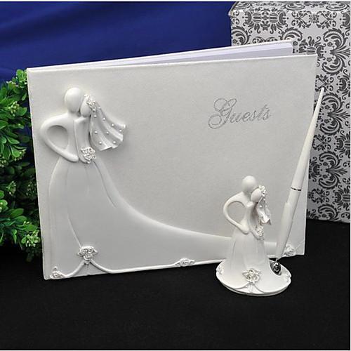 Свадебная коллекция комплект включая гостевая книга, держатель ручки, обнимать пара тостов флейты и сервера торт и нож (6 шт) Lightinthebox 3024.000