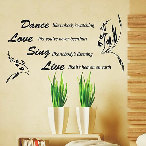 Танец Любовь петь вживую Слова стены Стикеры Lightinthebox 1718.000