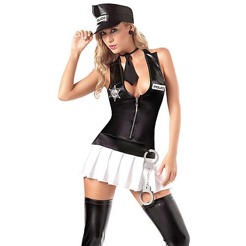 Абсолютная Sexy Girl Cop черной форме с наручниками Lightinthebox 858.000