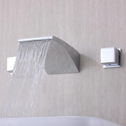 Современный дизайн хромированная отделка ванной комнаты Широкое Водопад ванной кран Lightinthebox 5585.000
