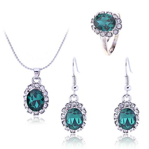 lureme ретро кристаллы изумрудно жемчужина серьги кольцо и ожерелье набор