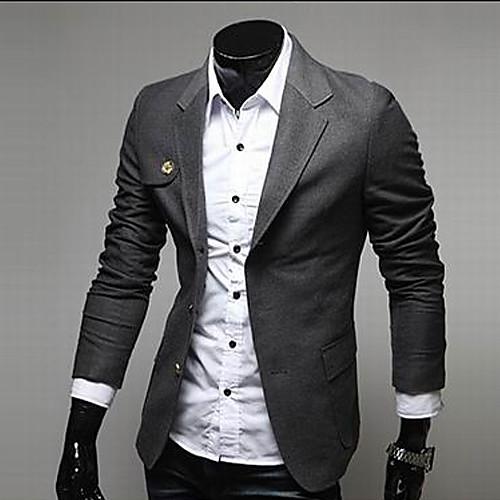 INMUR Мужская мода Темно-серый воротник Стенд из них подходит кнопка Lightinthebox 1116.000