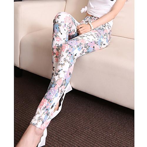TS Простота Цветочные печати узкие брюки карандаш Эластичность Lightinthebox 809.000